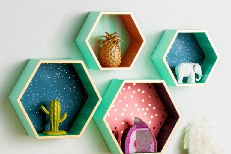 O nicho colmeia transforma a decoração do ambiente. Fonte: Pinterest