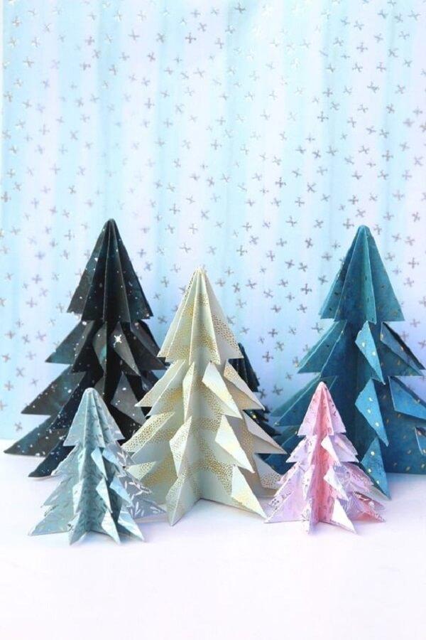 Origami fácil árvore de natal