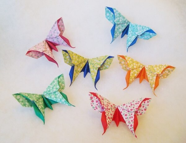Origami simple butterfly