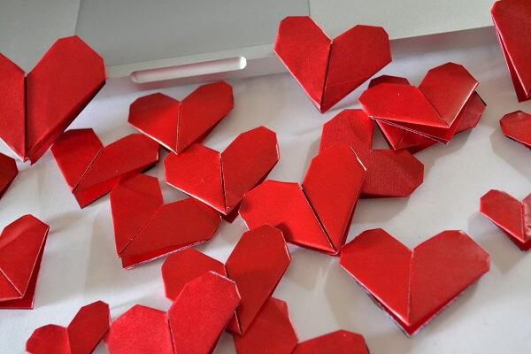 Origami fácil coração