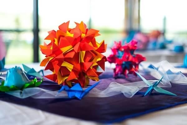 Easy origami wedding decor