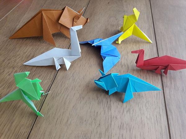 Easy dinosaur origami