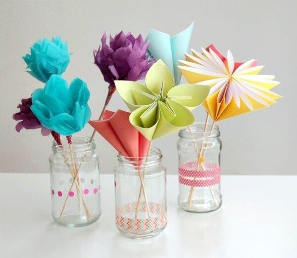 Origami fácil flores