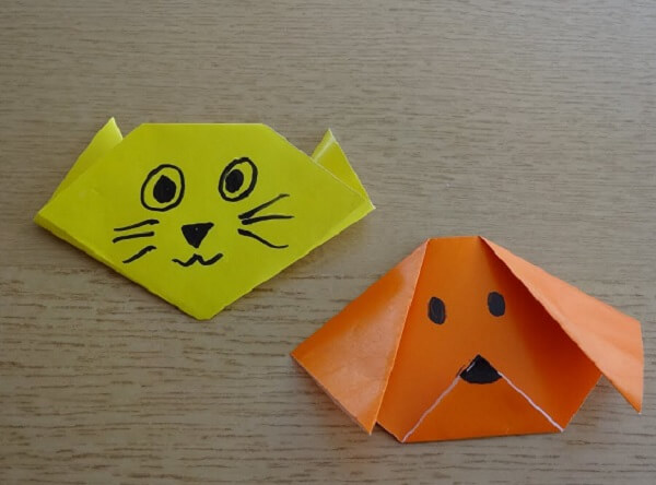 Origami easy cat and dog