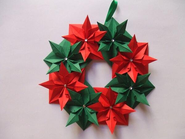 Easy origami garlands