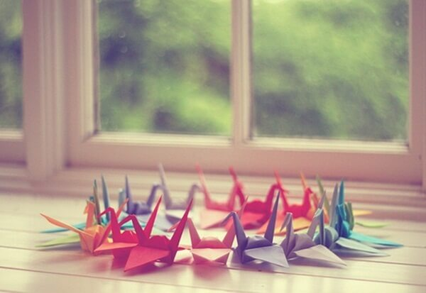Origami fácil pássaro