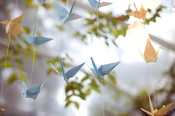 Easy origami blue bird