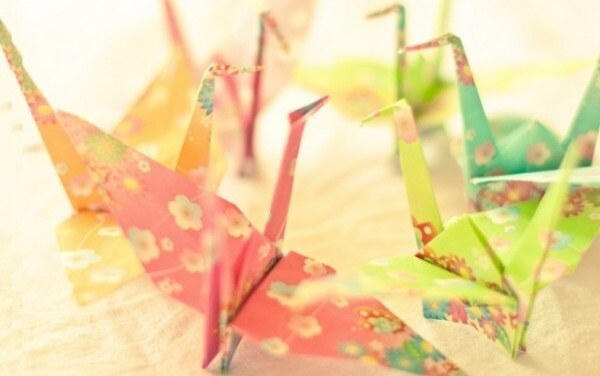 Easy colorful bird origami