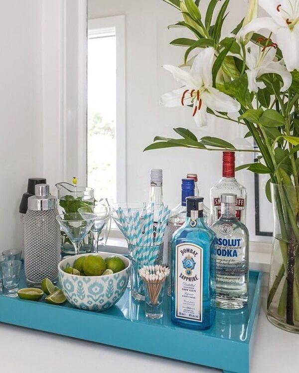 Os limões podem ser usados na preparação dos drinks