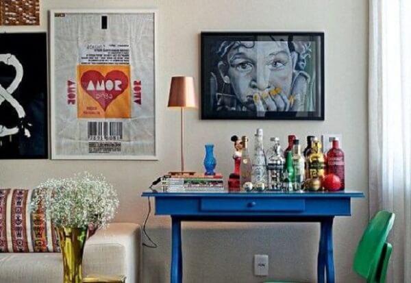 Reserve um lugar na sala de estar para o seu home bar