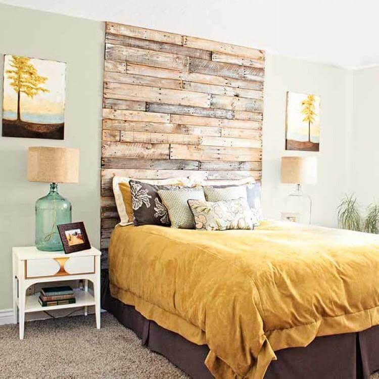 Reserve uma espaço especial para estrutura uma linda cabeceira no quarto