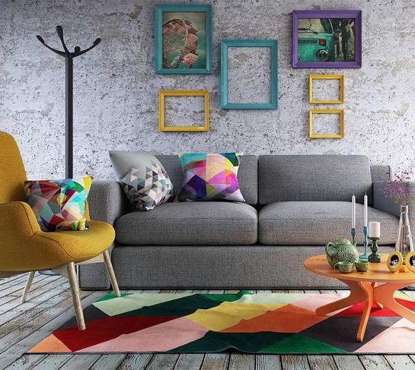 Tapete colorido sala