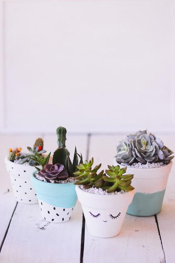 Vasos para suculentas criativos