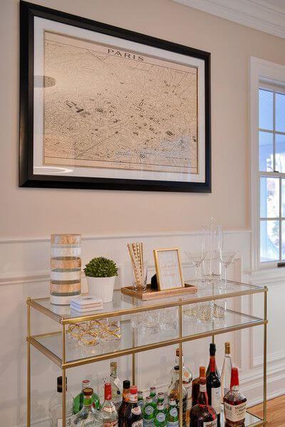 Aparador bar para sala de estar moderna