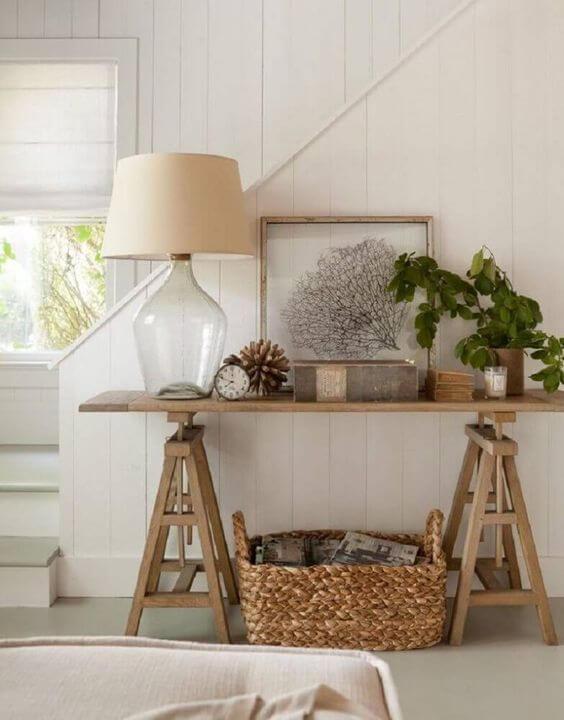Aparador para sala rustica feito de cavalete