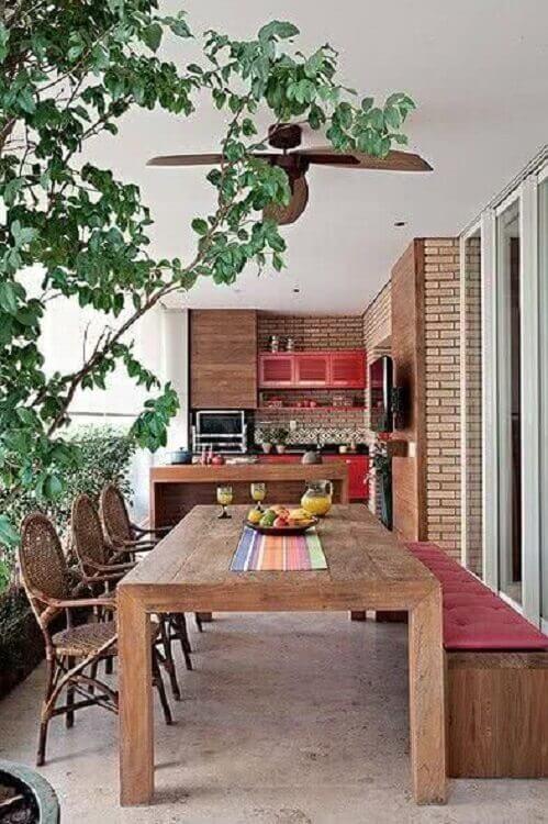 apartamento com área gourmet rústica simples Foto Pinterest