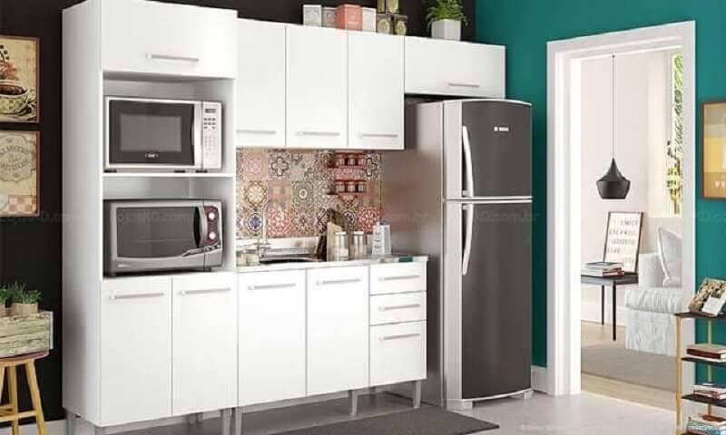 armário de cozinha modulado branco Foto Lojas KD