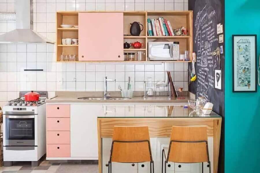 armário de cozinha modulado com design retrô Foto Futurist Architecture