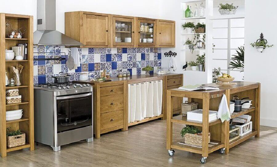 armário de cozinha modulado em madeira Foto Pinterest