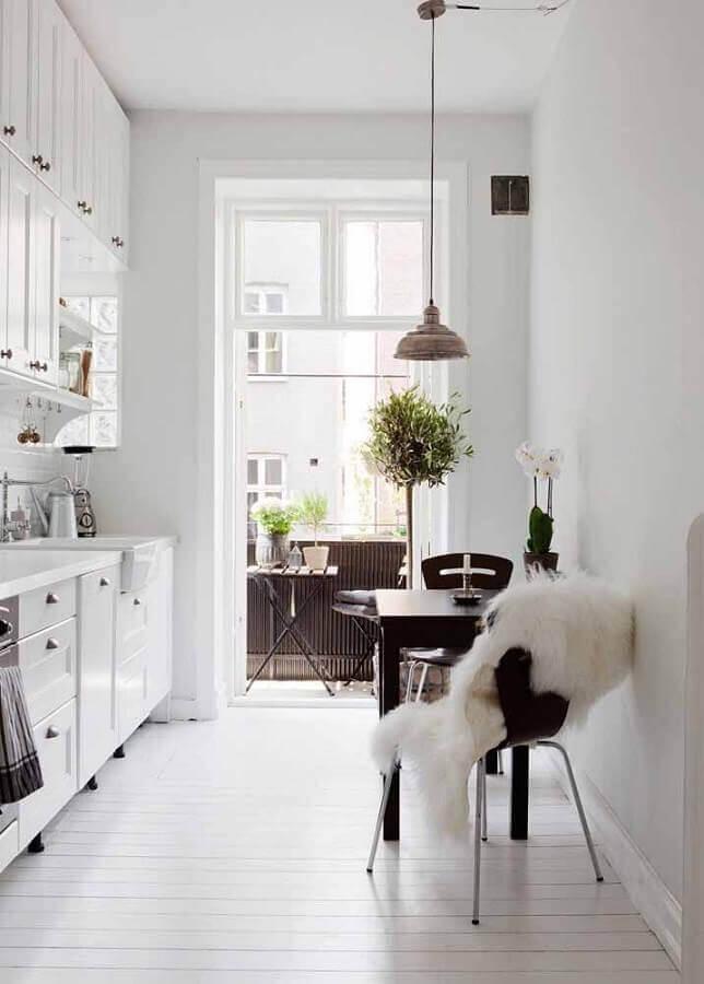 armário modulado de cozinha branca Foto Webcomunica