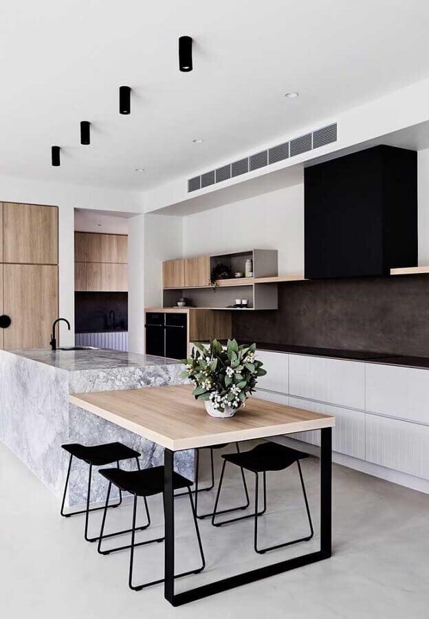 bancada de cozinha gourmet moderna e sofisticada Foto Pinterest