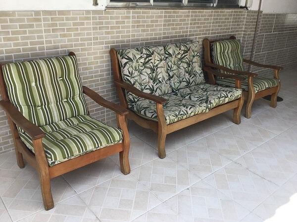 banco de madeira para varanda com assento