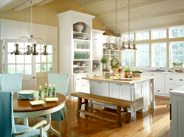 bancos de madeira para cozinha cozinha clean