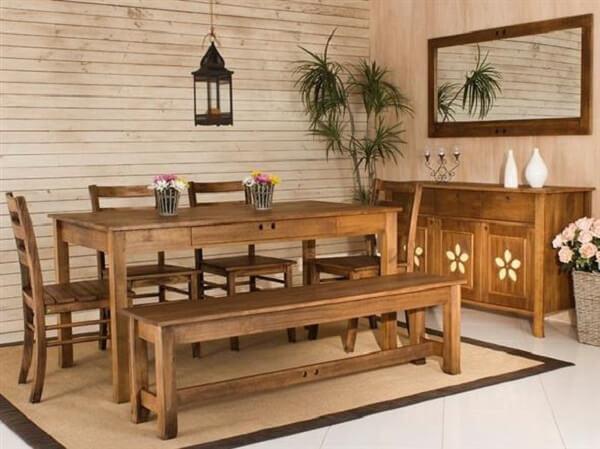bancos de madeira para cozinha