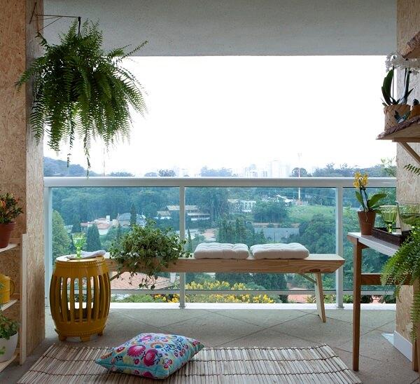 bancos de madeira para varanda
