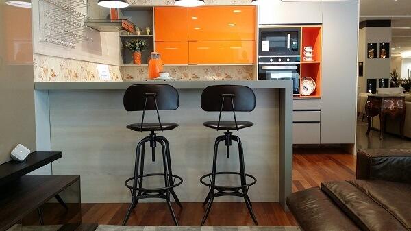 banqueta alta para cozinha estilo industrial