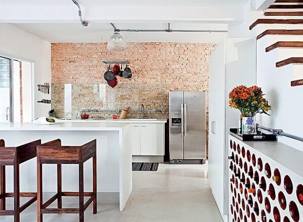 banquetas de madeira para cozinha