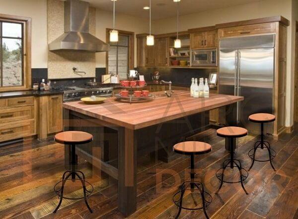 banquetas para balcão de cozinha balcão rústico