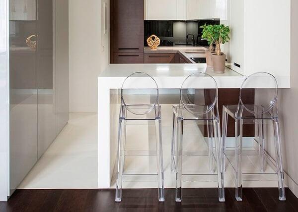 banquetas para bancada de cozinha acrílico