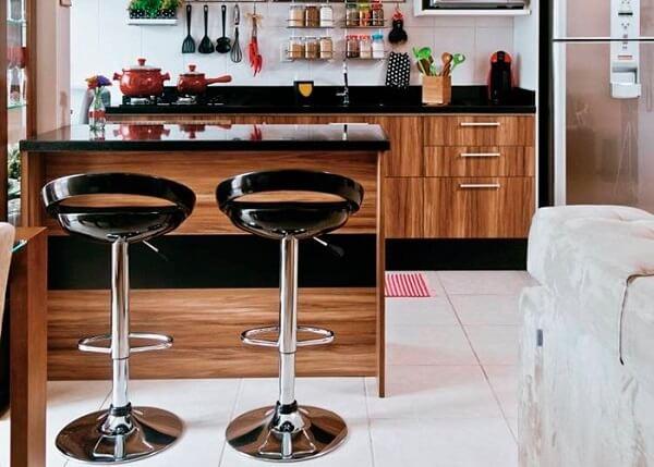 banquetas para bancada de cozinha preta