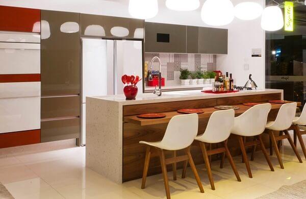 banquetas para cozinha americana cadeira branca