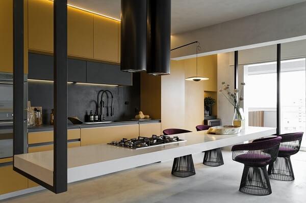 banquetas para ilha de cozinha modelo