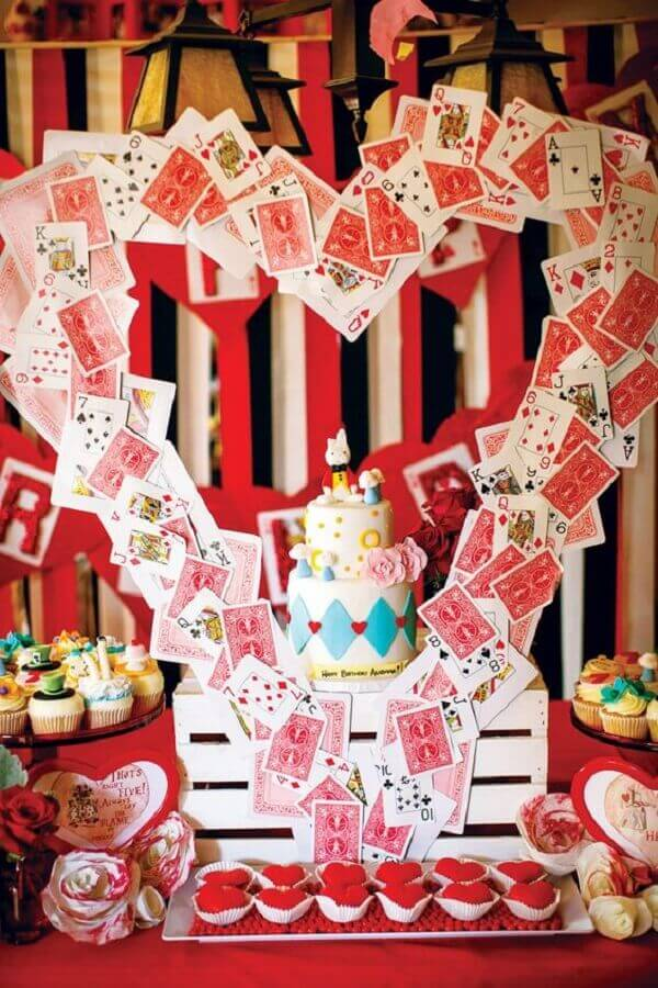 white and red for alice party decoration in wonderland Photo Secrets of Grandma