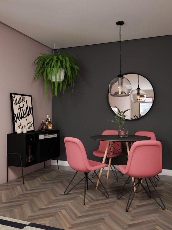 Buffet aparador para sala de jantar preto