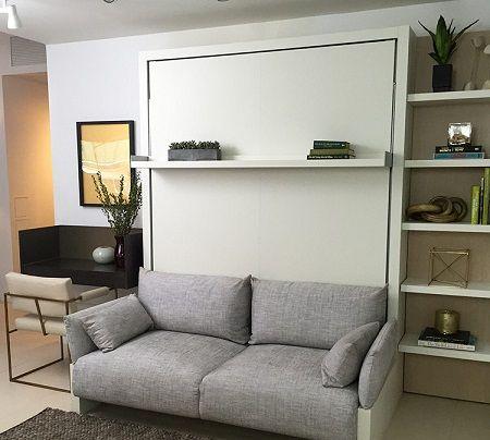 Cama retrátil acima do sofá