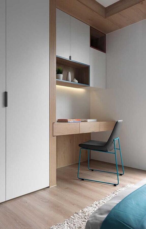 cantinho de estudo decoração moderna Foto Webcomunica