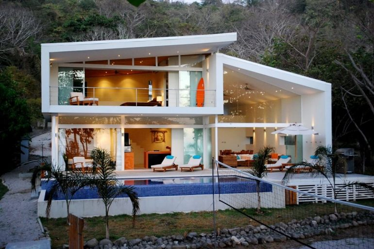 casa contemporânea  branca arquidicas