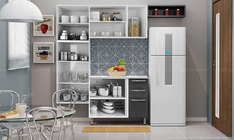 cozinha modulada com armários de nichos Foto Lojas KD