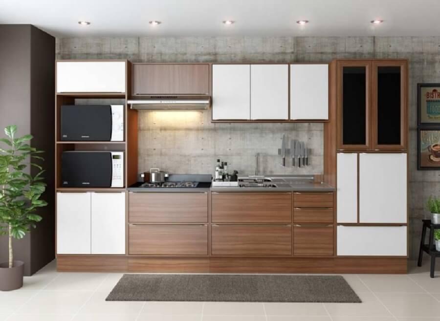 cozinha modulada com pia Foto Multimóveis