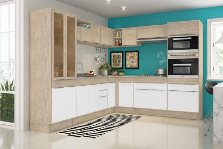 cozinha modulada em l Foto Assetproject