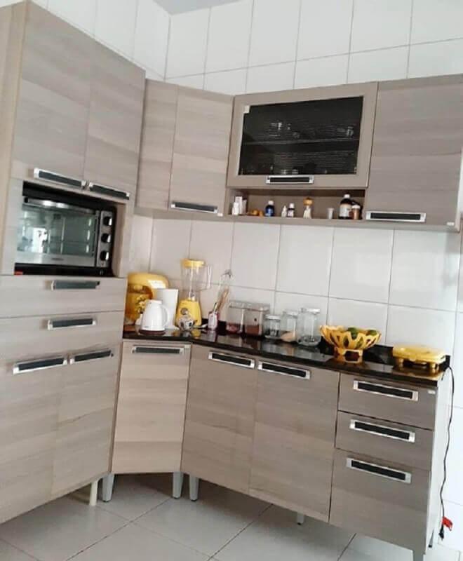 cozinha modulada em l Foto Casa e Construção