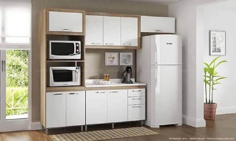 cozinha modulada pequena e simples Foto Lojas KD