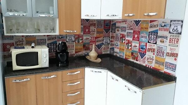 cozinha vintage adesivos de parede