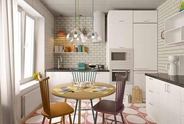 cozinha vintage azulejo tijolo