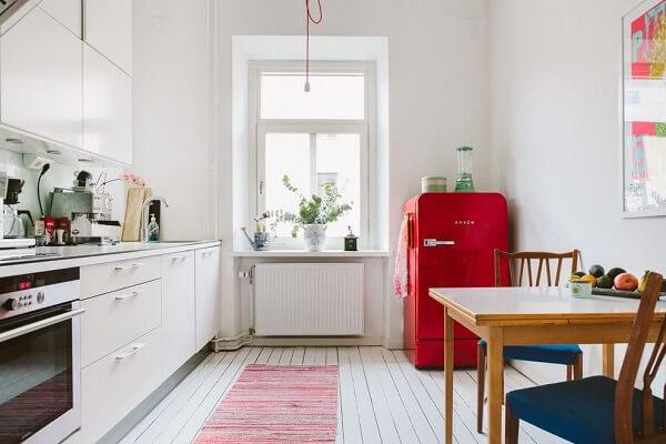 cozinha vintage geladeira