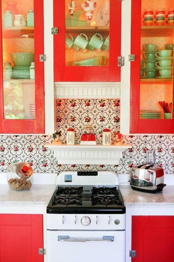 cozinha vintage laranja